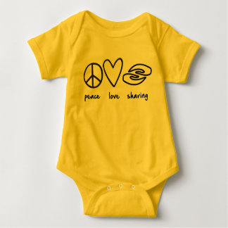 Peace, Love, Sharing Baby Outfit Baby Bodysuit