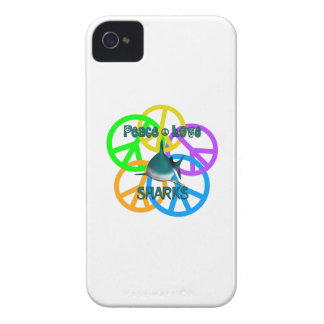 Peace Love Sharks iPhone 4 Cases