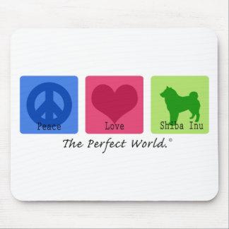 Peace Love Shiba Inu Mouse Pad