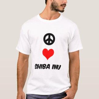 Peace love Shiba Inu T-Shirt