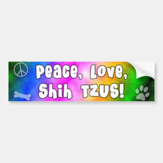 Peace Love Shih Tzus Bumper Sticker