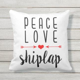 Peace Love Shiplap Pillow