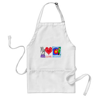 PEACE LOVE SHOOT (Gun Lovers) Standard Apron