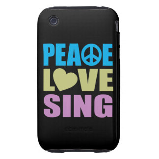 Peace Love Sing Tough iPhone 3 Case