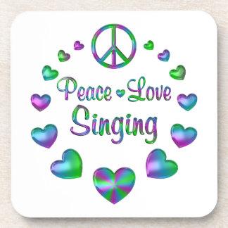 Peace Love Singing Beverage Coasters