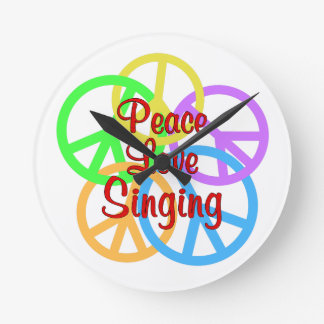Peace Love Singing Clocks