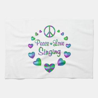 Peace Love Singing Towel