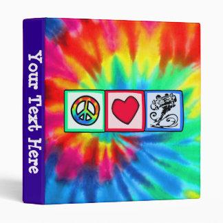 Peace, Love, Skateboard 3 Ring Binders