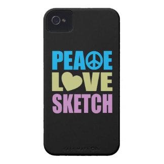 Peace Love Sketch iPhone 4 Case-Mate Cases