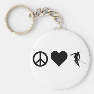 Peace Love Ski Keychain