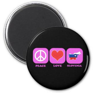 Peace Love Slovenia Magnet