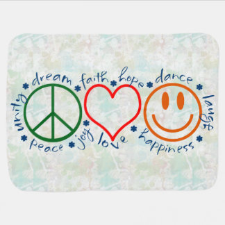 Peace Love Smile Baby Blanket