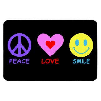Peace Love Smile Magnet