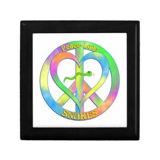 Peace Love Snakes Jewelry Box