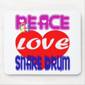 Peace Love Snare Drum Mouse Pad