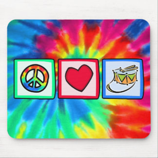 Peace Love Snare Drum Mousepads