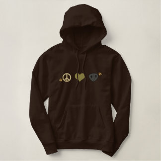 Peace Love Sniff Embroidered Hoodie