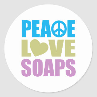 Peace Love Soaps Round Sticker