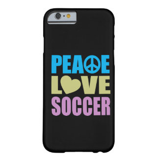 Peace Love Soccer Barely There iPhone 6 Case