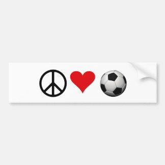 Peace, Love, & Soccer Bumper Sticker