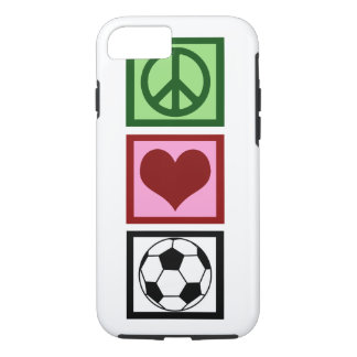Peace Love Soccer iPhone 8/7 Case