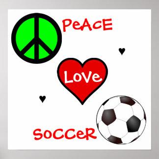 Peace, Love, Soccer! Poster