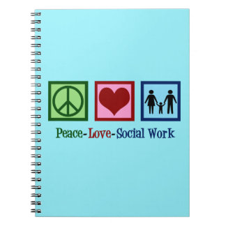 Peace Love Social Work Notebooks