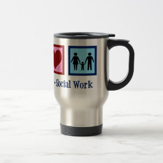 Peace Love Social Work Travel Mug