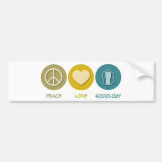 Peace Love Sociology Bumper Sticker