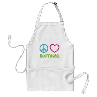 Peace Love Softball Aprons