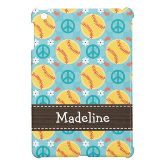 Peace Love Softball iPad Mini Case