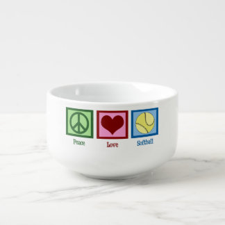 Peace Love Softball Soup Mug