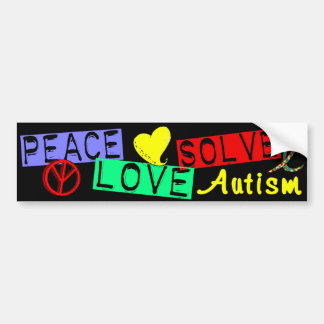 Peace Love Solve Autism Bumper Sticker