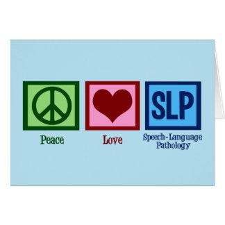 Peace Love Speech Language Pathology Card