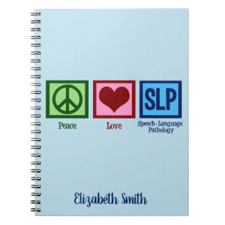 Peace Love Speech Language Pathology Notebook