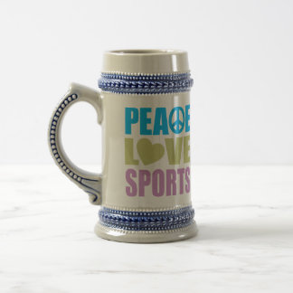 Peace Love Sports Beer Stein