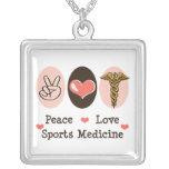 Peace Love Sports Medicine Necklace