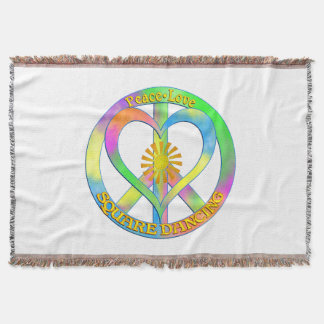 Peace Love Square Dancing Throw