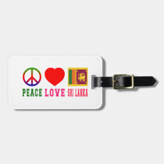 Peace Love Sri Lanka Bag Tag