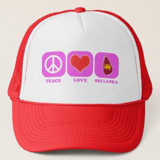 Peace Love Sri Lanka Trucker Hat