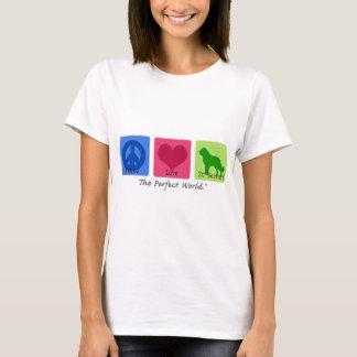 Peace Love St Bernard T-Shirt