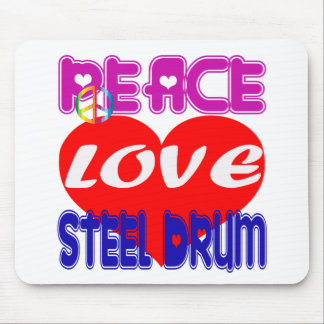 Peace Love Steel Drum Mouse Pad