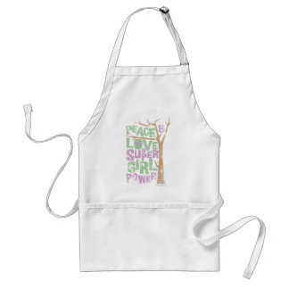 Peace Love & Supergirl Power Aprons