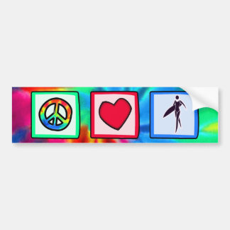 Peace, Love, Surfer Girls Bumper Sticker
