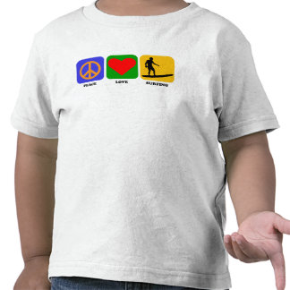 Peace Love Surfing T-shirts