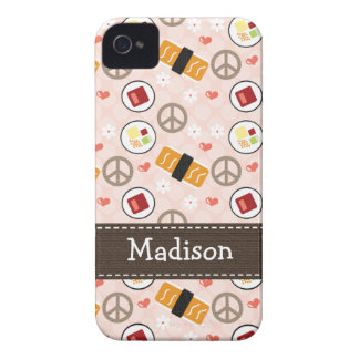 Peace Love Sushi iPhone 4 4s Case-Mate Cover