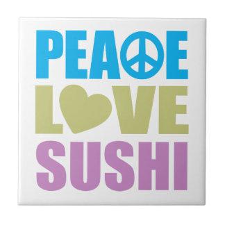 Peace Love Sushi Ceramic Tiles
