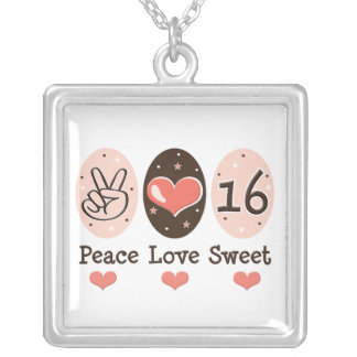 Peace Love Sweet 16 Necklace