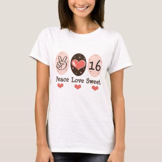 Peace Love Sweet Sixteen 16 T-shirt