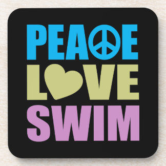Peace Love Swim Drink Coaster